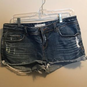 Aeropostale denim distressed shorts